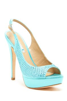 DAVID TUTERA Glamour Slingback Platform Heel by DAVID TUTERA on @HauteLook