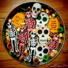 Day of the Dead cookie tray by Sweet Dani B