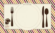 FREE Thanksgiving Printables - Actvity Place Mat | CatchMyParty.com Free Thanksgiving Printables, Thanksgiving Cakes, Thanksgiving Parties, Free Baby Shower Printables, Party Printables, Free Printables, Free Sign, Menu Cards, For Your Party