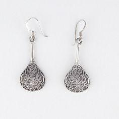 Sterling Silver Teardrop Earrings from Kouvy