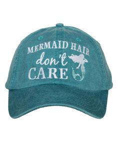 c38b320d846 Teal Blue  Mermaid Hair Don t Care  Baseball Cap