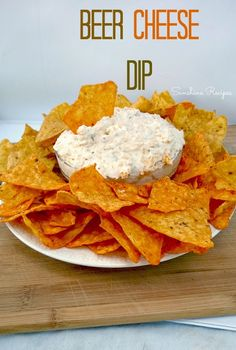 Beer Cheese Dip- Perfect chip dip for parties. Serve with Doritos or Ritz crackers. | Sunshine Recipes