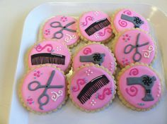 """Cookies (in case we want to make a """"Truvy's Beauty Parlor"""" dessert bar) Spa Cookies, Cut Out Cookies, Royal Icing Cookies, Cupcake Cookies, Cookie Time, Cupcakes, Birthday Cookies, Piece Of Cakes, Dessert Bars"""