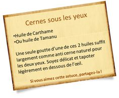anti cerne naturel carthame