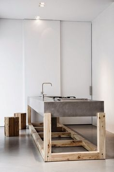 ilot-cuisine-moderne-design-scnadinave-beton-bois-brut