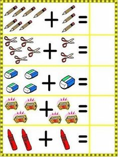 Crafts,Actvities and Worksheets for Preschool,Toddler and Kindergarten.Lots of worksheets and coloring pages. Back To School Worksheets, Math Addition Worksheets, Kindergarten Math Worksheets, Worksheets For Kids, Numbers Preschool, Preschool Printables, Preschool Learning, Preschool Activities, Math For Kids