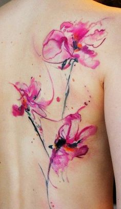 New Watercolor Tattoos 2016