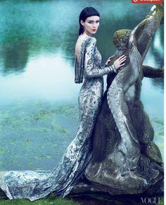 @Vogue Rooney Mara in Marchesa