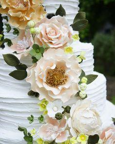 Consulta esta foto de Instagram de @delicatessepostres • 105 Me gusta Sugar Flowers, Cake Art, Wedding Cakes, Rose, Floral, Instagram Posts, Artist, Plants, Pictures