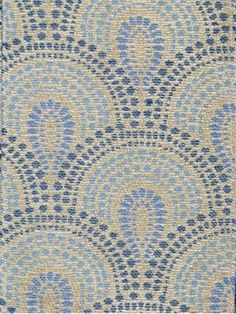 Bowden Scallop Bluebell - Waverly Williamsburg Colonial Fabric Collection