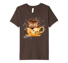 Amazon.com: Thanksgiving Hedgehog T-Shirt Blessed: Clothing