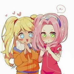 Naruto and Sakura (Naruto Gender bender) Naruto Kakashi, Naruto Shippuden Sasuke, Anime Naruto, Naruto Teams, Naruto Comic, Naruto Cute, Naruto Funny, Naruto Girls, Gaara