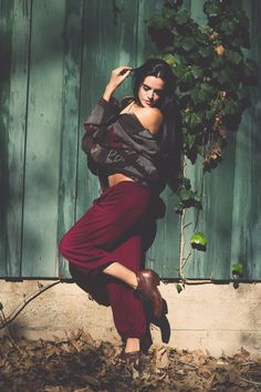 Perfect Pant in Oxblood from TYSADESIGNS