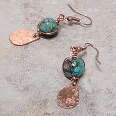 Wire Wrapped Turquoise Blue...