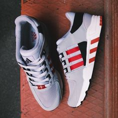 Fancy - Adidas Originals EQT Support 93 Scarlet Sneakers