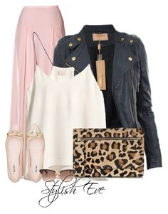 Pink and Black Outfit! by stylisheve on Polyvore featuring H&M, By Malene Birger, Miu Miu, Gérard Darel and Yves Saint Laurent