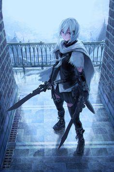 Girls with swords & Manga Anime Art Girl, Manga Art, Manga Anime, Anime Fantasy, Fantasy Girl, Fantasy Characters, Female Characters, Character Inspiration, Character Art