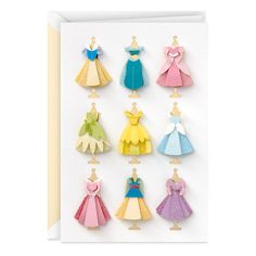 Disney Birthday Card, Disney Princess Birthday, Disney Princess Dresses, Disney Princesses, Princess Cards, Birthday Cards, 5th Birthday, Birthday Ideas, Disney Princess Decorations