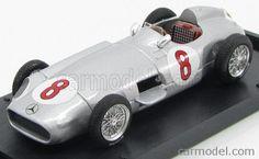 BRUMM R072-UPD Scale 1/43  MERCEDES BENZ F1 W196 N 8 GP OLANDA 1955 J-M.FANGIO WORLD CHAMPION SILVER
