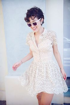 Lace vintage shirtdress.