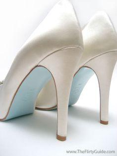Louboutin Makes Blue Soled Bridal Shoes