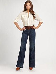 Ralph Lauren Blue Label Islinton High-Rise Flare Jeans