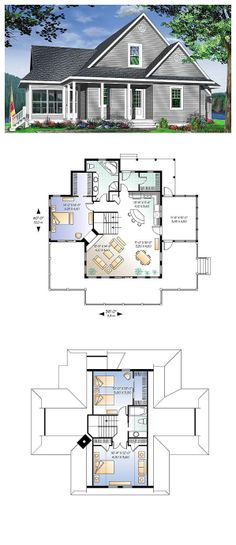 The Alicia Place English Home has 3 bedrooms and 2 full baths See - plan d une maison simple