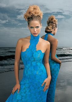 Whimsical Runway Hairstyles| Serafini Amelia| Aquage > Image Gallery > Seascapes Formalwear