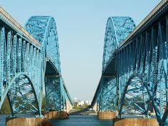 South Grand Island Bridges.  Over the Niagara River spanning Tonawanda and Grand Island in New York.