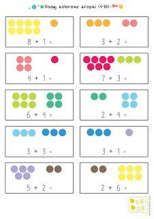 DzikiDzik: Drukowanki First Grade Math Worksheets, Printable Math Worksheets, Preschool Worksheets, Free Printable, Toddler Learning Activities, Preschool Activities, Kids Learning, Montessori Math, Homeschool Math