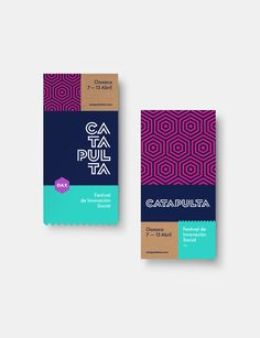 Catapulta Fest.Identity + Stationery + Visual System for a social innovation platform and festival taking place in the beautiful city of Oaxaca. One of Mexico's richest cultural heritages, the city of Oaxaca has long been a hubbub of activity, and thi…