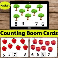 Learn to Count with young children 2-6 ages and students with autism and special needs using these bright and colorful boom cards! Click here for Printable Counting Activities. The cards were created on the Boom Learning℠ platform. They're easy for young students to use and very versatile - they can...