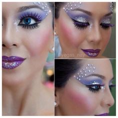 21 Creepy and Cool Halloween Face Painting Ideas Possible Halloween make up inspiration! (I'm being an angel and I'd do more soft pink and soft [. Fairy Make-up, Water Fairy, Snow Fairy, Fairy Wings, Fairy Fantasy Makeup, Fantasy Make Up, Fantasy Hair, Dark Fantasy, Halloween Make Up