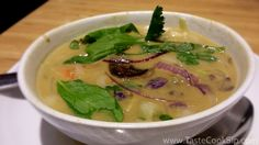 Noodles & Company, Thai Curry soup, 30 ingredients are used to make this spicy, vegetarian friendly soup. Thai Curry Soup, Noodles And Company, Orlando Restaurants, Central Florida, Chilis, Light Recipes, Grand Opening, Spicy, Vegetarian