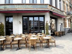 – EN – Strolling around Antwerp Zuid our eyes stumbled upon the Shilling corner. Color Tile, Antwerp, Leather Sofa, Cosy, Flooring, Interior Design, Home Decor, Nest Design, Decoration Home