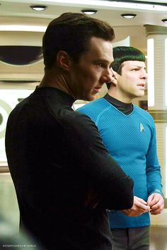 "botanycameos: "" Both listening intently to Kirk perhaps…? ;) Star Trek Compendium. (x) """