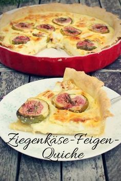 Goat cheese and fig Quiche- Ziegenkäse-Feigen-Quiche A summery quiche with goat& cheese and figs. Fig Recipes, Summer Recipes, Holiday Recipes, Low Carb Recipes, Summer Desserts, Easy Smoothie Recipes, Easy Smoothies, Appetizer Recipes, Recipes