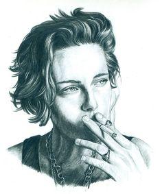 Chronic Ink Tattoo - Toronto Tattoo. A sketch of Kristen Stewart done by Laurel.