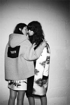 Antonina Petkovic & Kate Bogucharskaia by Giampaolo Sgura for MSGM F/W 2014 Campaign.