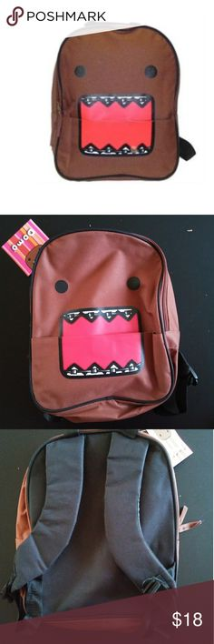 """Domo kun 12"""" backpack New with tag. Its approx 12 x 10 Medium size. Front pocket with velcro closure. Double zip main compartment. No trades or Pp thanks Bags Backpacks"""