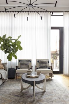 Thinking about a living room refresh? Let this room by Anita Yokota be your inspiration. Living Room Windows, Living Room Decor, Drapes Curtains, Drapery, Door Coverings, Window Treatments, New Homes, Interior Design, House