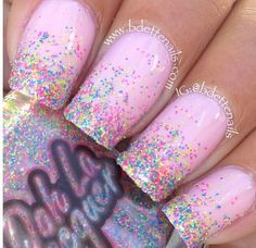 Pink Sparkle Nail Polish Awesome Birthday Nail Inspiration Baby Pink & Glitter N . - Pink Sparkle Nail Polish Awesome Birthday Nail Inspiration Baby Pink & Glitter N …, - Pink Sparkle Nails, Sparkle Nail Polish, Pink Polish, Nail Pink, Glitter Manicure, Glittery Nails, Cute Nail Art, Cute Nails, Edgy Nail Art