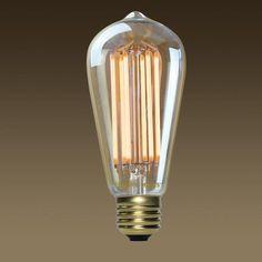 Edison Mills ST58 Antique LED Filament Lamp 6W - 40 Watt Equal - 2200K - Edison-Mills