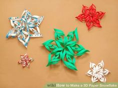 Image titled Make a 3D Paper Snowflake Step 12