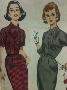 Antique 1957 McCall's Misses Dress Pattern Size by TheIDconnection, $25.00