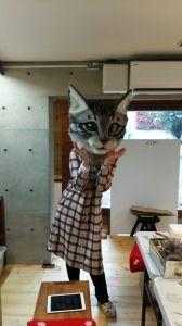 羊毛フェルト製「リアル猫ヘッド」   猫人形の部屋!継続は力なり