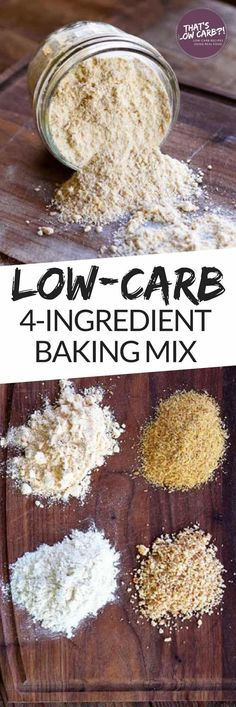 Low Carb Baking Flour Mix using just 4-Ingredients to create the perfect low carb flour for your baking and cooking needs. #lowcarb #lowcarbdiet #lowcarbrecipes #keto #ketodiet #recipe #baking #lowcarbbaking #bakingflour