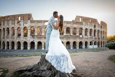 Creative and Unique Rome Wedding Couple Photo Shoot in the most scenic and panoramic locations photographed by the Andrea Matone photographer studio Wedding Couple Photos, Wedding Couples, Wedding Photoshoot, Wedding Attire, Surprise Wedding, Bride And Groom Pictures, Wedding Proposals, Photographic Studio, Rome Italy