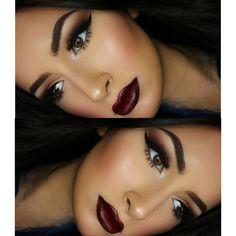 Photo taken by Taya Vanessa - Stunning Eyes, Beautiful, Dark Lips, War Paint, All Things Beauty, Hair Makeup, Make Up, Face, Instagram