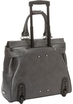 54e6224e7c57 Cabrelli Pebbled Rolling Laptop Bag Womens Wheeled Case CarryOn Briefcase  711225